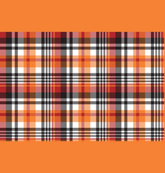 orange plaid seamless fabric texture vector image