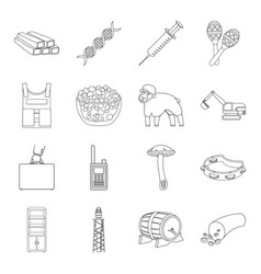 Organ army finance and other web icon in outline vector