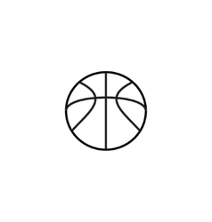 Outlin of basketball Icon vector image