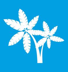 Palma icon white vector