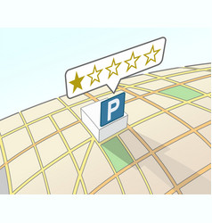 parking area lowest user rating vector image