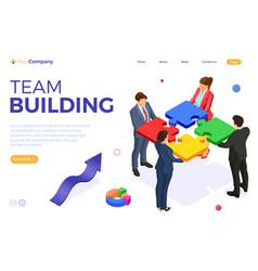 Partnership teamwork business mans and womans vector