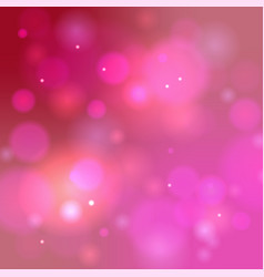 Pink bokeh background abstract defocused circular vector