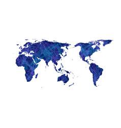 plexus world map flat design asia in vector image