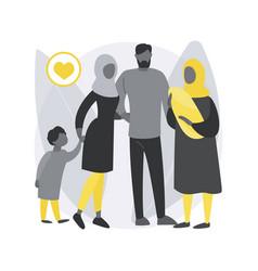 Polygamy abstract concept vector