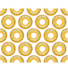 Poppy bagel pattern vector