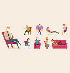 Psychotherapy consulting people dialogue crowd vector