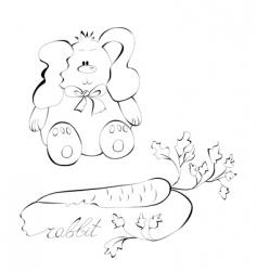 rabbit sketch vector image