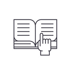 reading of books line icon concept reading of vector image