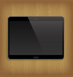 realistic tablet on table vector image