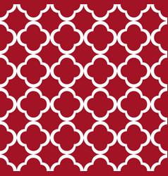 Red quatrefoil outline ornamental pattern vector