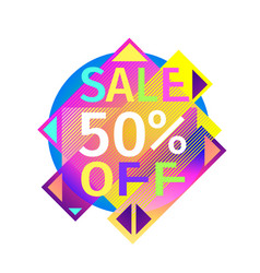 Sale banner with colorful motley lettering and vector