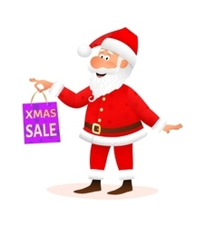 Santa Claus isolated on white background vector