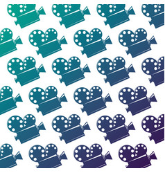 Seamless pattern film cinema movie projector vector