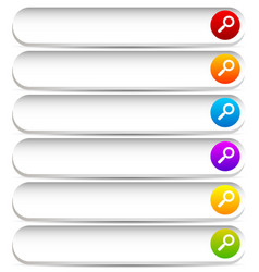 search bars buttons with magnifier glass symbols vector image