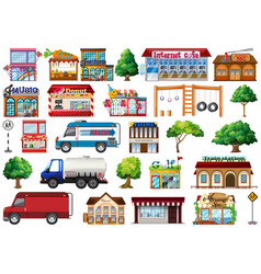 Set city objects vector
