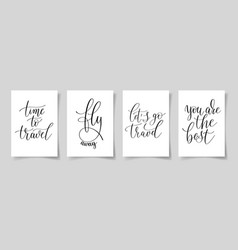 set four hand written lettering positive quotes vector image