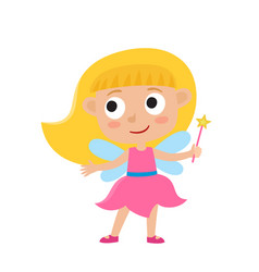 set of cute cartoon kid in colorful vector image