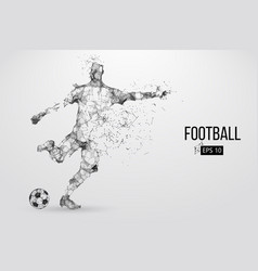 Silhouette a football player from particles vector