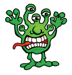 silly monster creature cartoon vector image