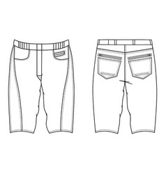 skinny shorts vector image