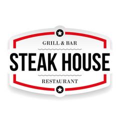 steak house restaurant vintage sign vector image