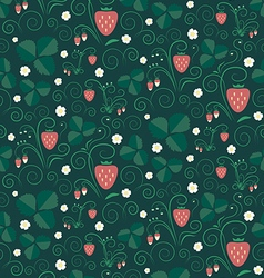 Strawberry fields seamless pattern vector