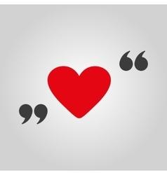 The love icon Heart symbol Flat vector image