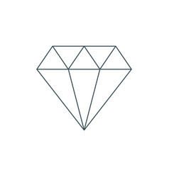 thin line diamond icon vector image