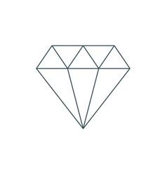 Thin line diamond icon vector