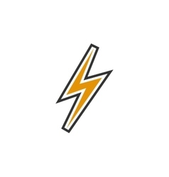 Thunder Icon logo element for template vector