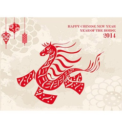 Traditional Chinese Horse New Year 2014 vector image
