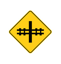 Usa traffic road signsrailway crossing ahead vector