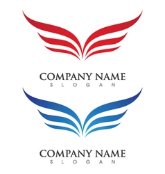 V Wing Logo Template vector