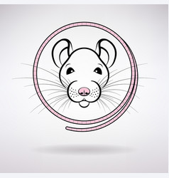 white rat symbol year vector image