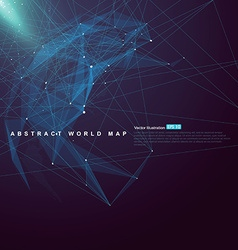 World map point line surface composition vector