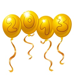 2013 new year balloons vector image