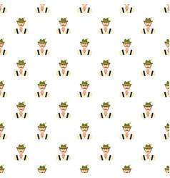 bavarian man pattern vector image