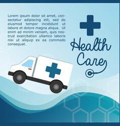 health care ambulance service vector image