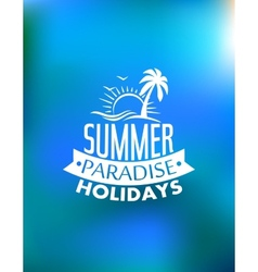 Summer paradise poster design vector image