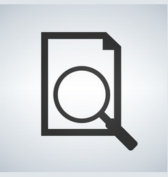 document with magnifying glass icon search concept vector image