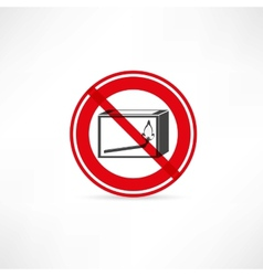 forbidden to use fire icon vector image