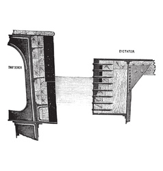 HMS Thunderer engraving vector image