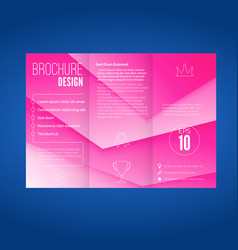 Pink layered modern abstract geometric brochure vector