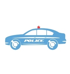 Police car flat design vector image