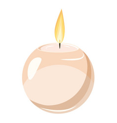 round candle icon cartoon style vector image vector image