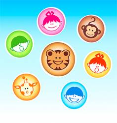 zoo kids and animals vector image
