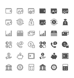 Financial management icons vector image