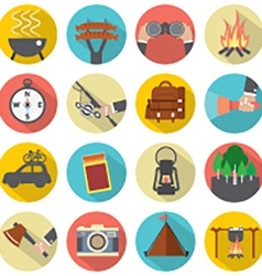 Modern Flat Design Camping And Outdoor Activity vector image vector image