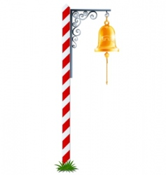 post with hanging bell vector image vector image